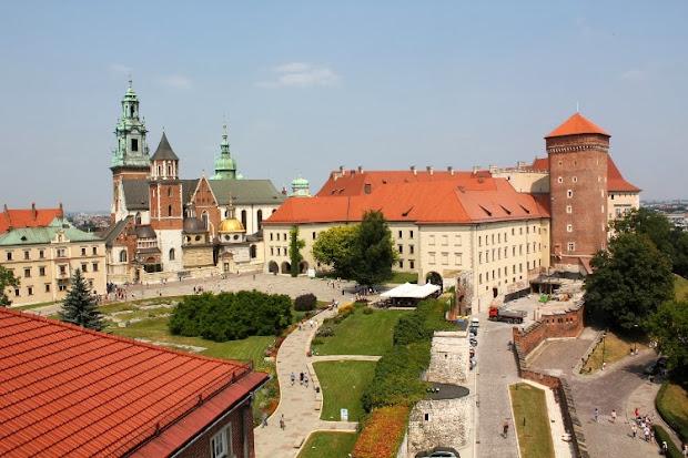 Castillo de Wawel desde la torre Sondomierska(Cracovia)