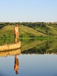 Petite baignade dans la Volga avant Kazan