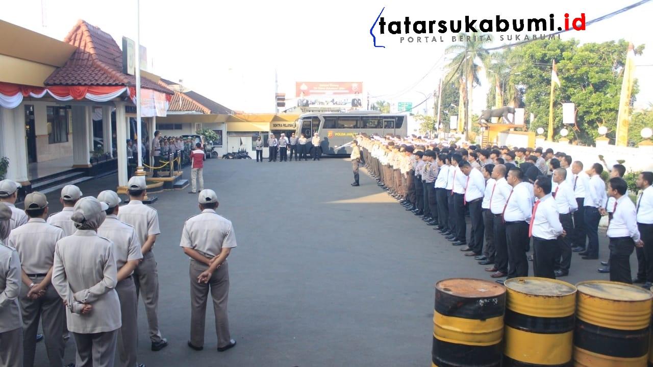 Jelang Sidang Putusan Sengketa Pilpres di MK, 600 Personel TNI Polri Kota Sukabumi Disiagakan