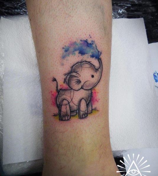 esta_aquarela_baby_elefante_tatuagem