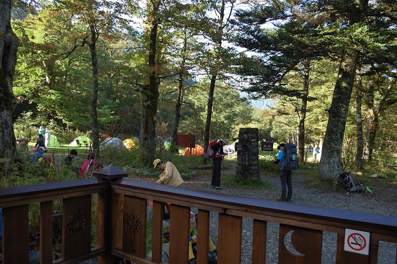 徳澤園の前、キャンプ場