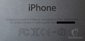iPhone5Sプロトタイプの背面