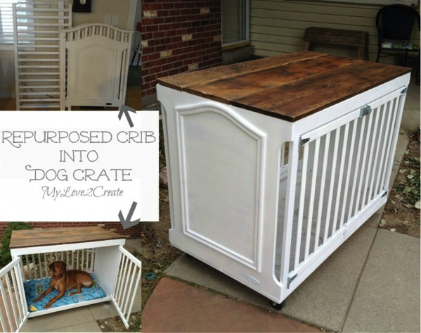 Crib into Dog Crate