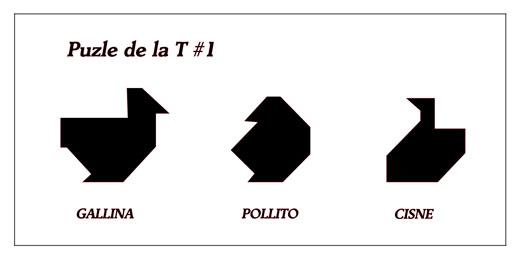 Puzzle de la T - M·s figuras #1