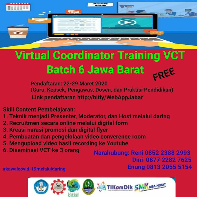 Virtual Coordinator Training VCT Batch 6 Hadir Kembali