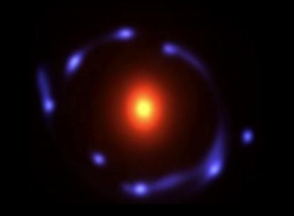ilustração da lente gravitacional BG1429 1202