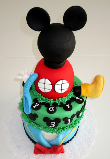 817- Mickey Mouse clubhuis taart.JPG
