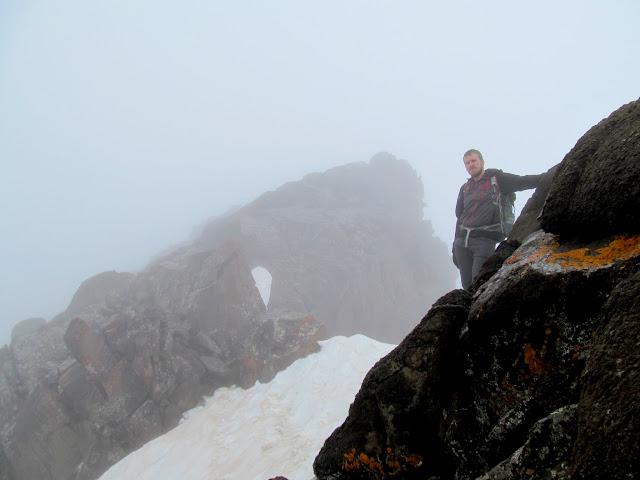 Chris below the Mount Sneffels summit