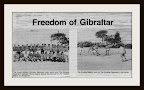 Freedom of Gibraltar Football Match 1981