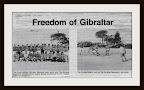 Freedom of Gibraltar Football Match 1981