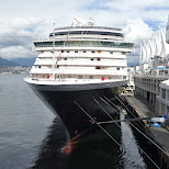 the Zuiderdam cuise ship about to depart Vancouver - destination ALASKA in Vancouver, British Columbia, Canada
