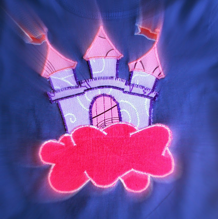 Sprookjeskasteel op t-shirt