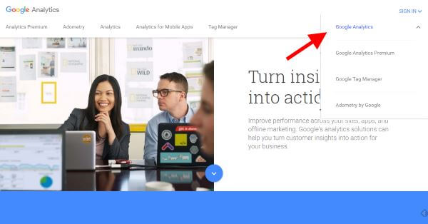 Google Analytics Sign In