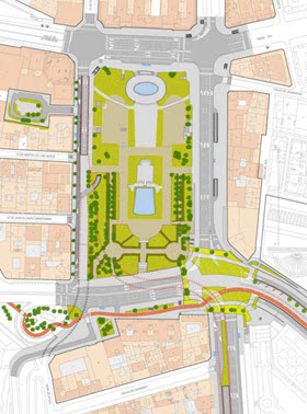 La remodelación de la Plaza de España ya tiene una propuesta abierta a la participación
