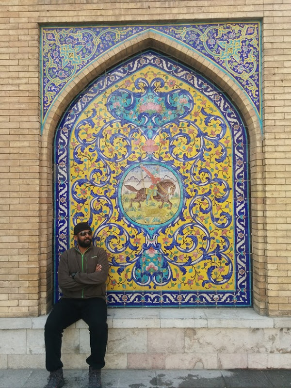 At the Golestan Palace in Tehran, Iran