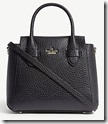 Kate Spade Textured Leather Top Handle Bag with Long Strap