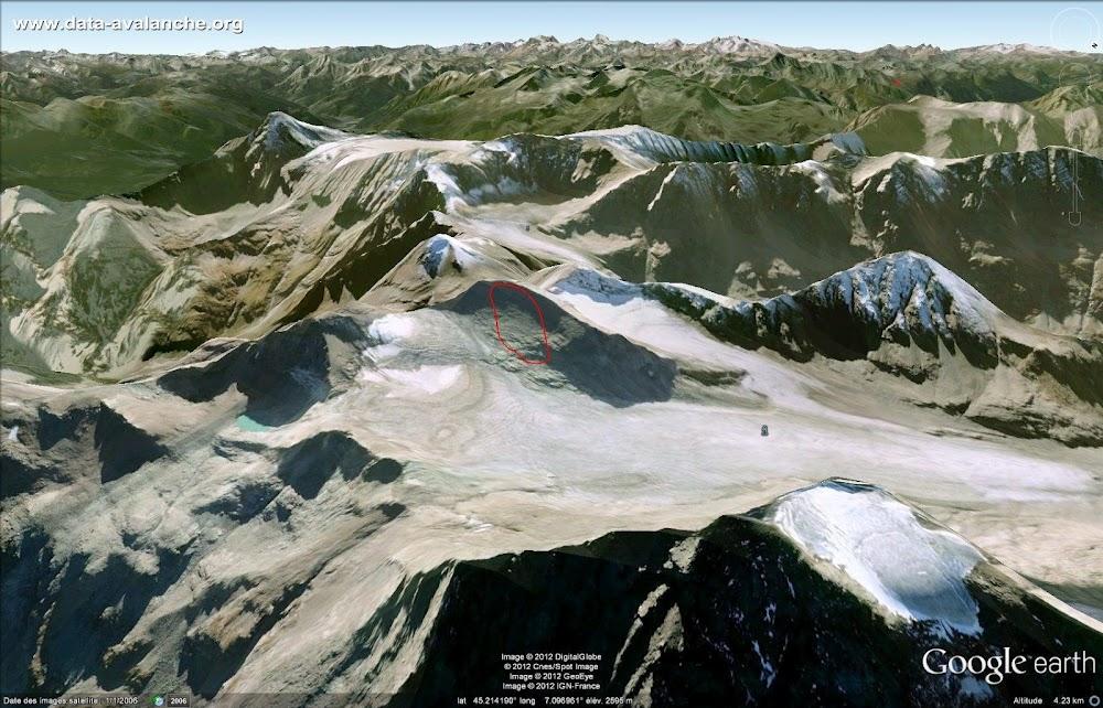 Avalanche Haute Maurienne, secteur Pointe des Lauses Noires, itinéraire IGN sous le point côté 3363 - Photo 1