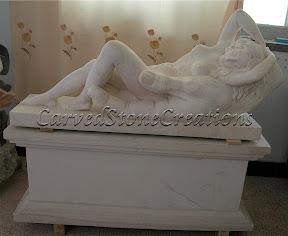 Female, Figure, Interior, Marble, Pedestal, Statues