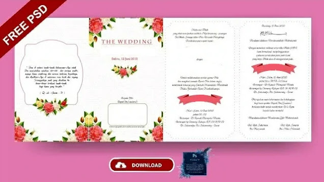 Download Template Undangan Pernikahan Photoshop