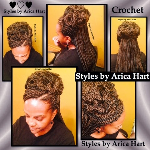 Updo hair styles, crochet styles, protective styles, braids, black hair styles, hair stylist in an Aiken, sc hair salon
