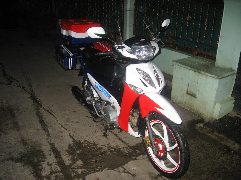 Supra X 125 Modifikasi Lampu