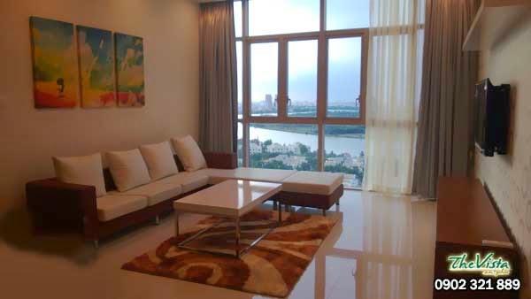 Cho thuê căn hộ 3 phòng ngủ giá 1200usd/tháng tại The Vista