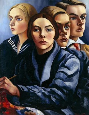 Charley Toorop - Self-portrait with Three Children