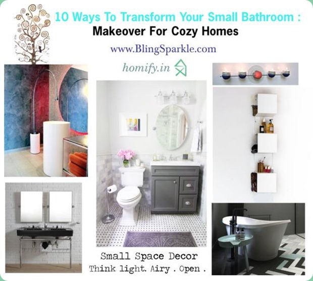 10 Small Guest Room Ideas That Are Larger Than Life: 10 Ways To Transform Your Small Bathroom : Makeover For
