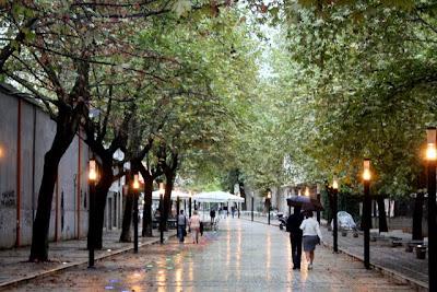 Pedestrian street in Tirana Albania