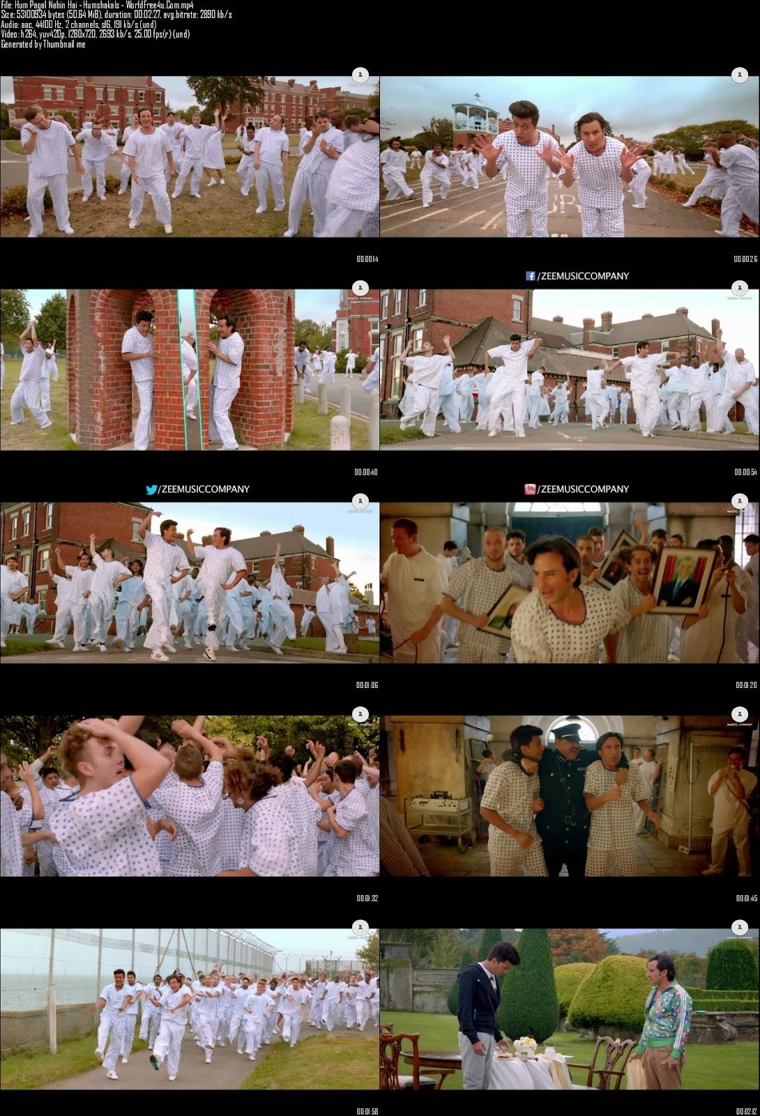 Mediafire Resumable Download Link For Video Song Hum Pagal Nahin Hai - Humshakals (2014)