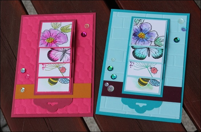 Wasserfallkarte Muttertag Happy Mothers Day Card Stampin Up Butterflies Penned and Painted 01