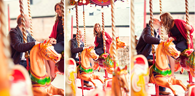 cute carousel engagement session by STUDIO 1208