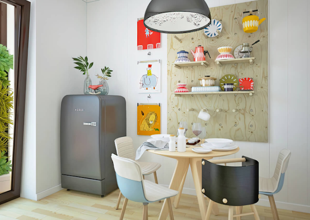 Ý tưởng thiết kế nội thất phòng bếp sang trọng với tông màu trắng