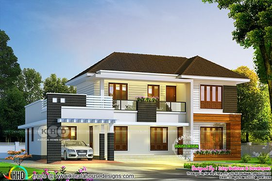 4 bedroom 2350 square feet mixed roof villa
