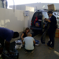 Packing the car before the trip to Shakawe