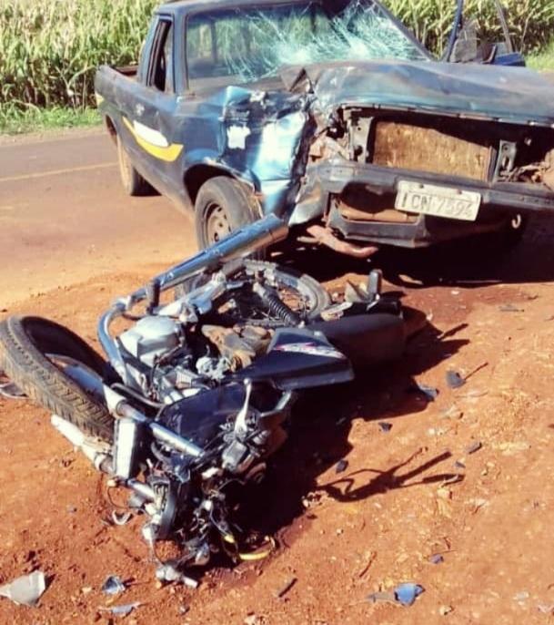 Motociclista morre em acidente na saída de Nova Cantu para Roncador