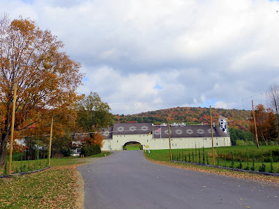 First seeing the entrance for visiting Ommegang Brewery for a tour, tasting, and late lunch