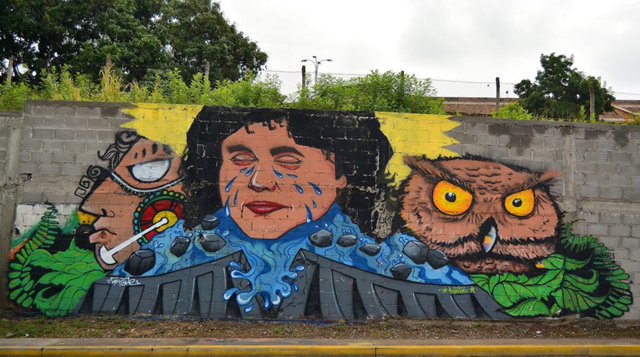 A mural of murdered forest-rights and indigenous-rights activist Berta Cáceres in Tegucigalpa, Honduras. Photo: disoniador / Pixabay