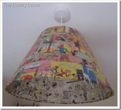 Comic Covered Lightshade