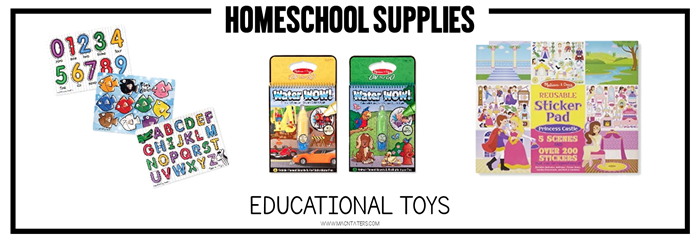 Educational Toys Great for Homeschool