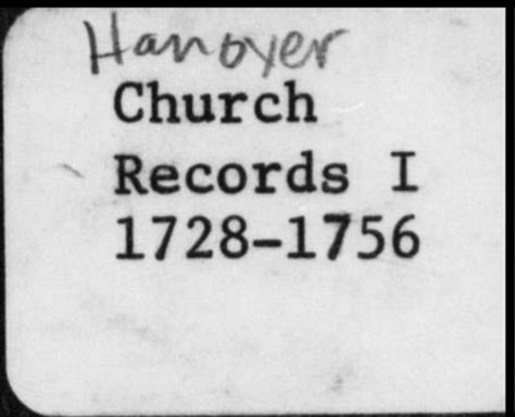 Hanover church records