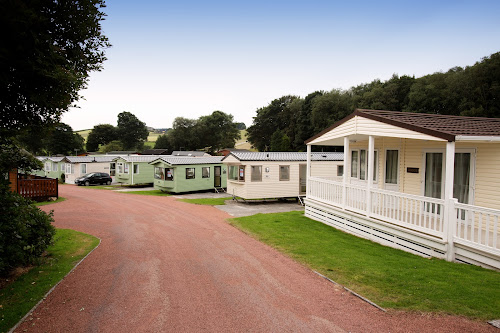 Camping  at Crook OLune Caravan Park