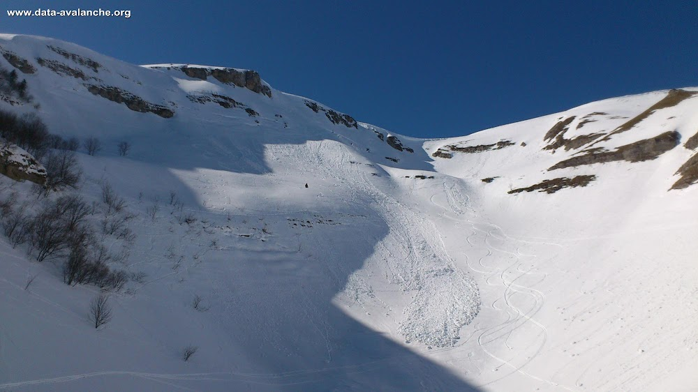 Avalanche Jura, secteur Le Reculet, Combe du Narderant - Photo 1