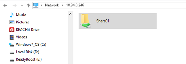 access shared folder from windows 10