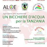 Un bicchiere d'acqua per la Tanzania - agosto 2012