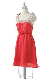 Lauren Conrad Colorblock Scalloped Dress