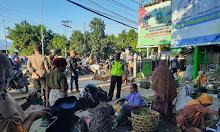 Polsek Tanjung Polres Lotara Imbau Prokes Di Pasar Tradisional