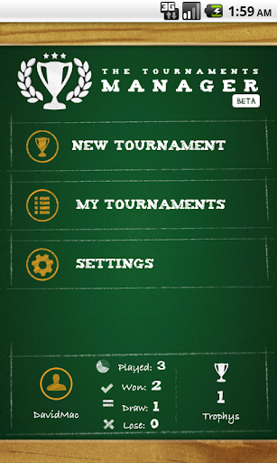 The Tournaments Manager v1.9 Android screenshots 1