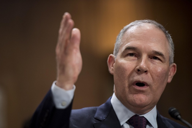 "EPA Administrator Scott Pruitt said on 15 June 2017 that the Trump administration's proposed budget ""supports the EPA's highest priorities,"" even though it proposes massive funding cuts to programs that ensure clean air and water. Photo: Melina Mara / The Washington Post"