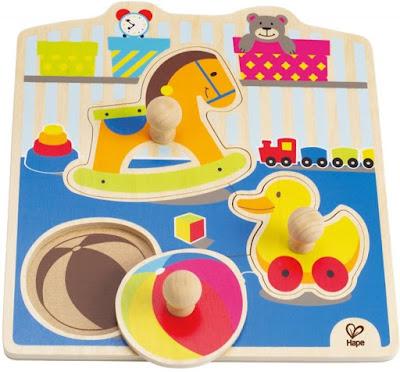 Ghép hình đồ chơi Hape My Toys Knob Puzzle